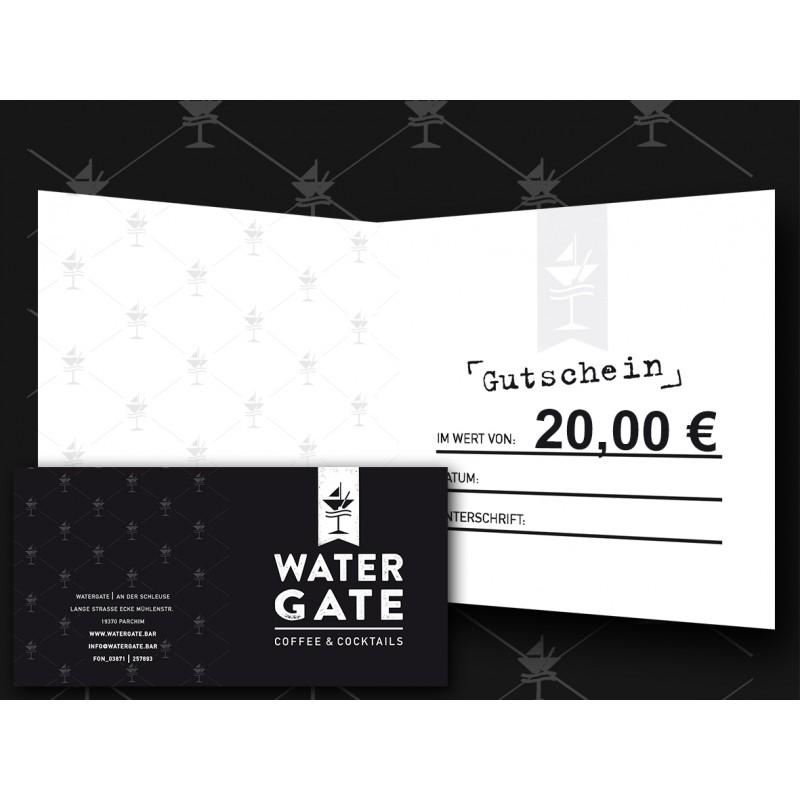 Gutschein 20,00 € - WATERGATE Shop